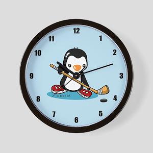 Popo Plays Ice Hockey Wall Clock