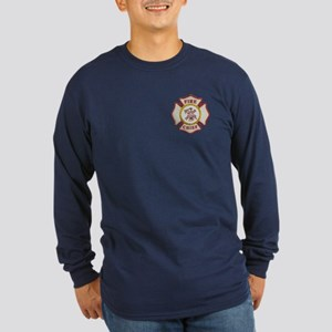 Fire Chief Maltese Long Sleeve Dark T-Shirt