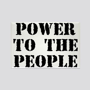Power to the People Rectangle Magnet