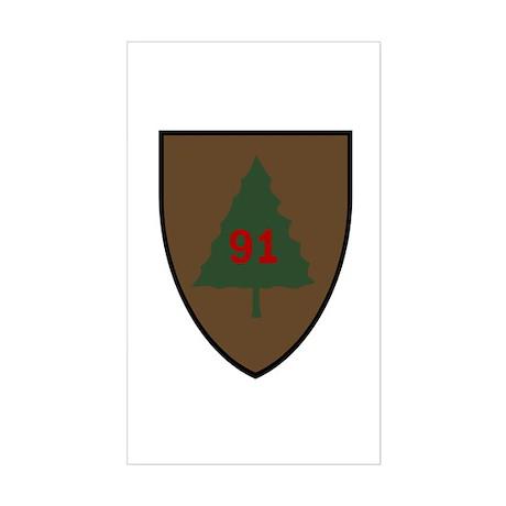 Pine Tree Sticker (Rectangle)
