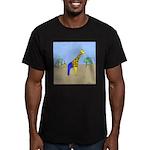 Giraffe Jeans (No Text) Men's Fitted T-Shirt (dark
