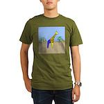 Giraffe Jeans (No Text) Organic Men's T-Shirt (dar