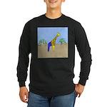 Giraffe Jeans (No Text) Long Sleeve Dark T-Shirt