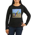 Giraffe Jeans (No Text) Women's Long Sleeve Dark T