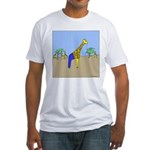 Giraffe Jeans (No Text) Fitted T-Shirt