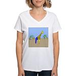Giraffe Jeans (No Text) Women's V-Neck T-Shirt