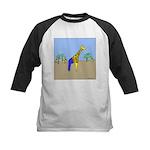 Giraffe Jeans (No Text) Kids Baseball Jersey