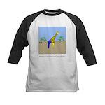 Giraffe Jeans Kids Baseball Jersey