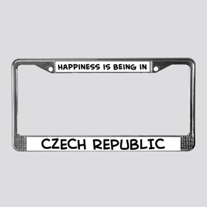 Happiness is Czech Republic License Plate Frame