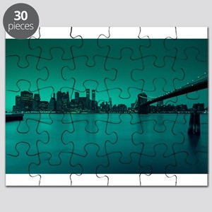 Vintage New York City Manhattan Skyline Puzzle