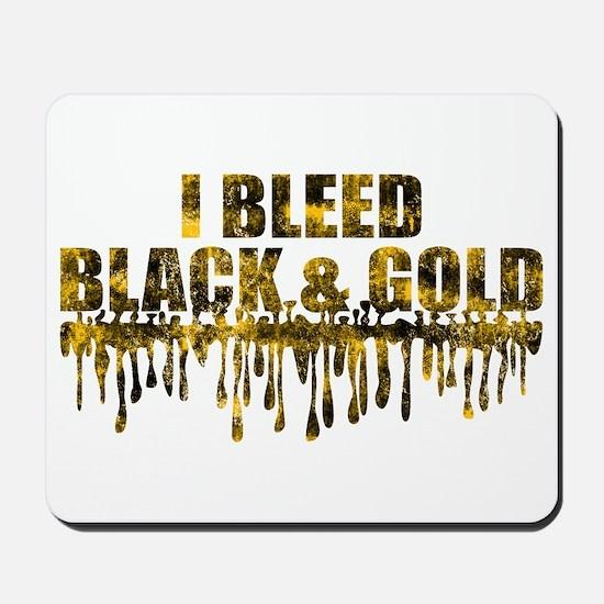 Bleed Black & Gold Mousepad