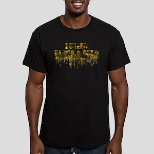 Bleed Black & Gold Men's Fitted T-Shirt (dark)