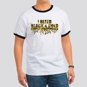 Bleed Black & Gold Ringer T