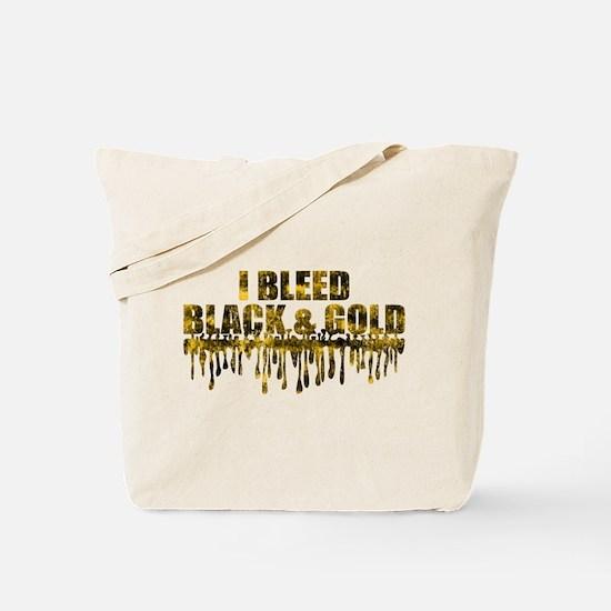 Bleed Black & Gold Tote Bag