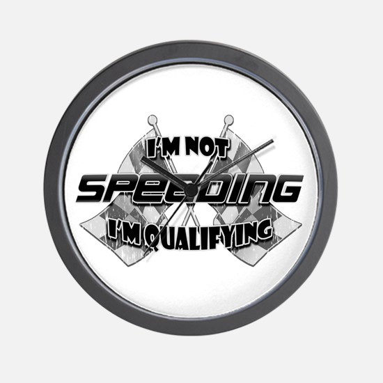 I'm Not Speeding Wall Clock