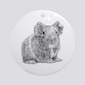 Guinea Pig/Cavy Illustration Ornament (Round)