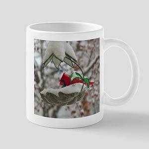 feeding cardinal Mug