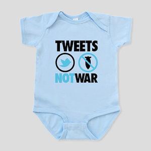 Tweets Not War Infant Bodysuit