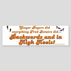 Ginger Rogers Bumper Sticker