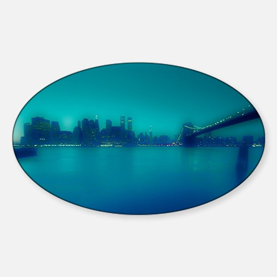 Vintage New York City Manhattan Skyline. Decal