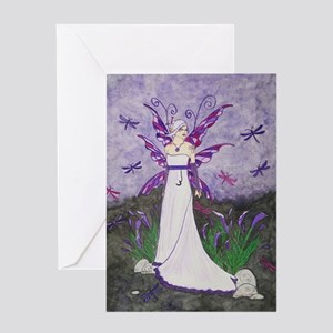 Dragonfly Lillies Greeting Card