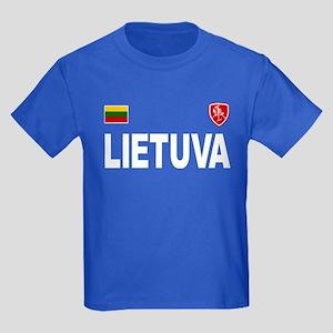 Lietuva Olympic Style Kids Dark T-Shirt