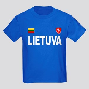 Lietuva Olympic Style Kids Dark T-Shirt