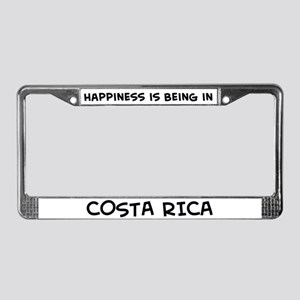 Happiness is Costa Rica License Plate Frame