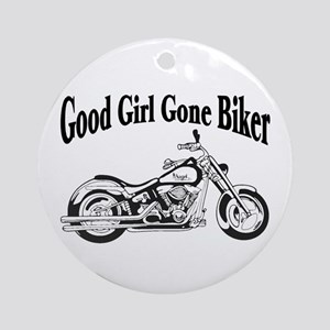 Good Girl Biker II Ornament (Round)