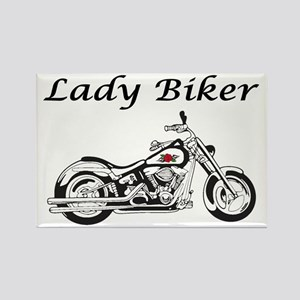 Lady Biker I Rectangle Magnet