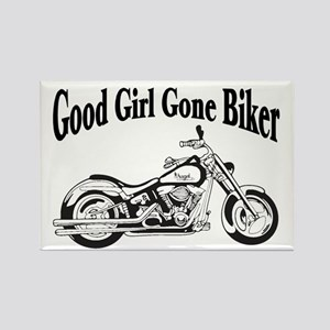 Good Girl Biker II Rectangle Magnet