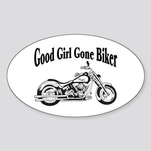 Good Girl Biker II Sticker (Oval)