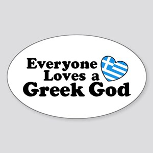 Everyone Loves a Greek God Sticker (Oval)