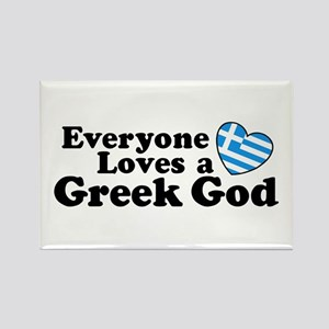 Everyone Loves a Greek God Rectangle Magnet