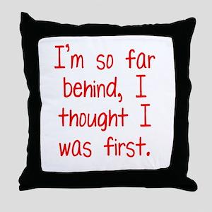 Far Behind Throw Pillow