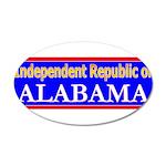 Alabama-2 38.5 x 24.5 Oval Wall Peel