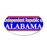Alabama-2 22x14 Oval Wall Peel