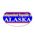 Alaska-2 38.5 x 24.5 Oval Wall Peel