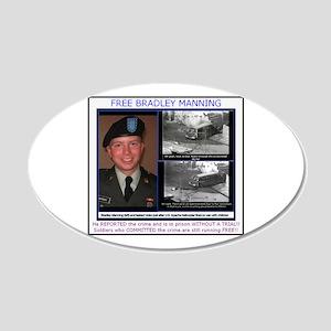 FREE Bradley Manning 22x14 Oval Wall Peel