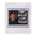 FREE Bradley Manning Throw Blanket