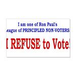 NO VOTE #3 22x14 Wall Peel