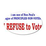 NO VOTE #3 22x14 Oval Wall Peel