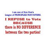 No VOTE #2 38.5 x 24.5 Wall Peel