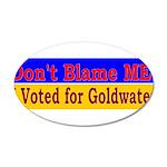 Don't Blame ME-BG 38.5 x 24.5 Oval Wall Peel