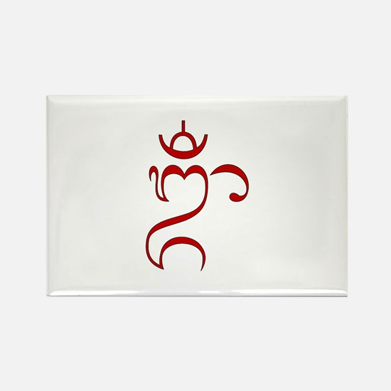 Balinese OM Rectangle Magnet