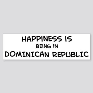 Happiness is Dominican Republ Bumper Sticker
