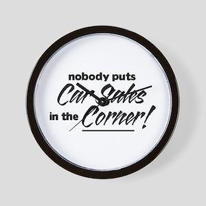 Car Sales Nobody Corner Wall Clock