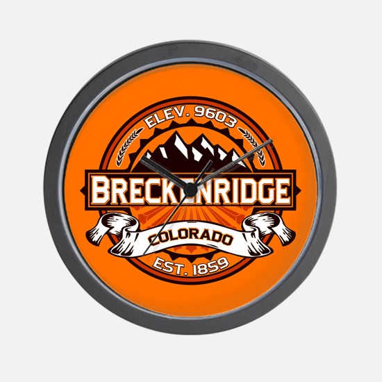 Breckenridge Tangerine Wall Clock