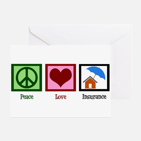Peace Love Insurance Greeting Card