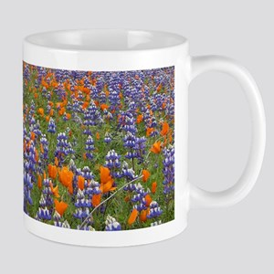 California Poppy & Lupine Mug
